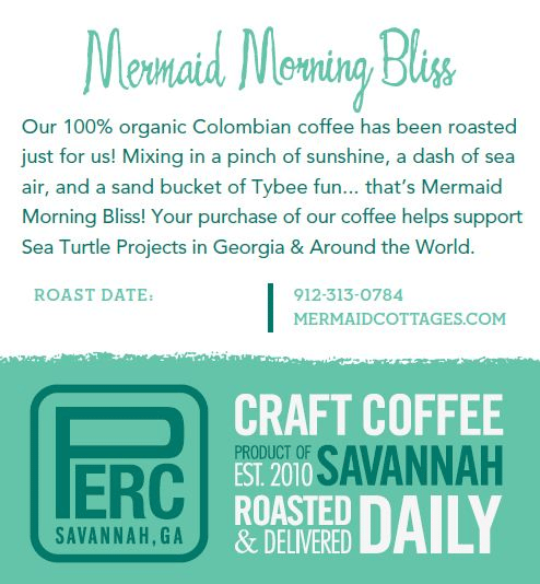 Mermaid Morning Bliss 2012 Coffee Label Back