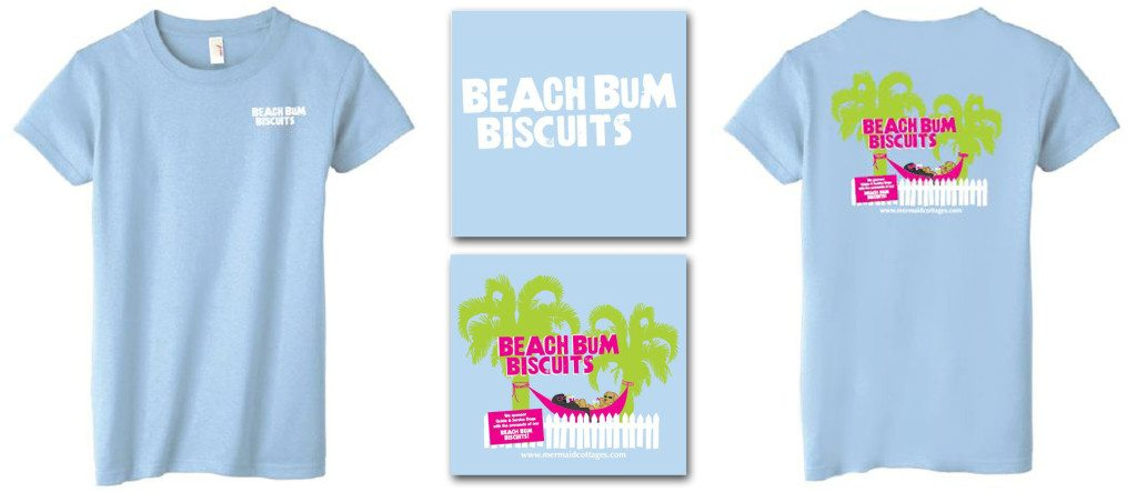 Beach Bum Biscuits t-shirts