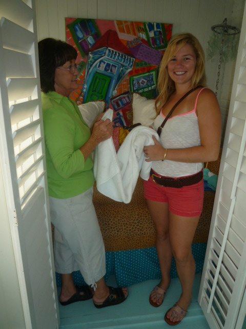 Towel folding master class