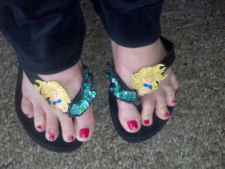 Mermaid Jan's mermaid flip flops