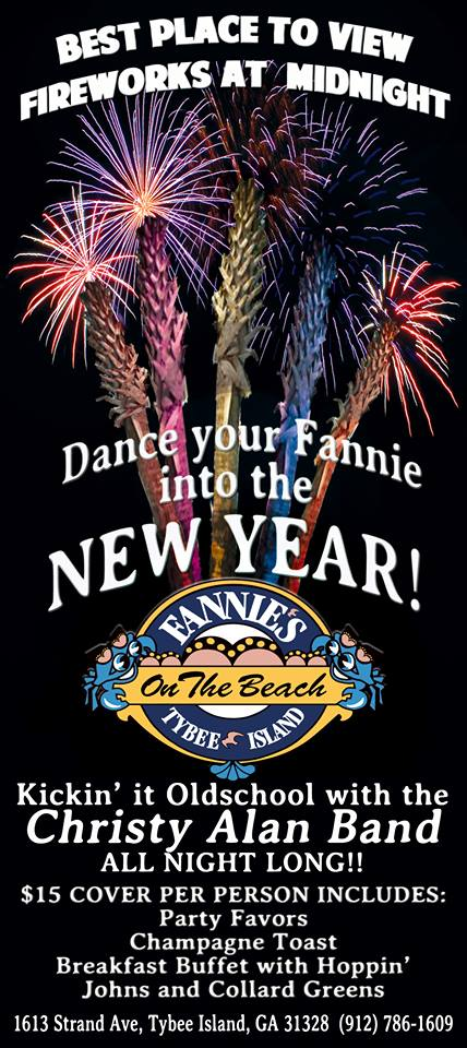 New Year's party at Fannies on the Beach