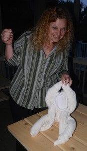 Mermaid Jennifer Creates Towel Animals!