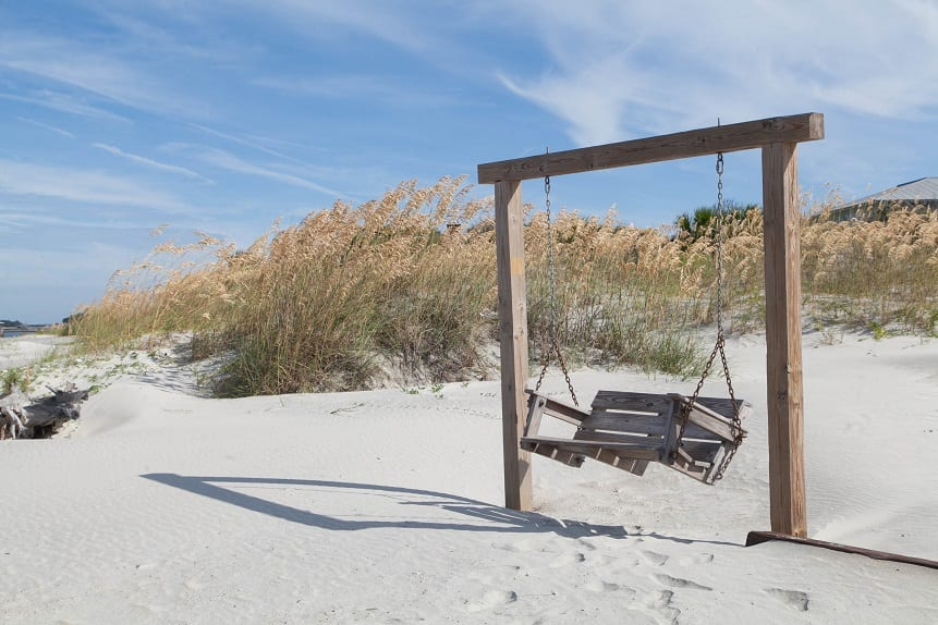 tybee island beach swing