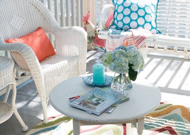 porch at whispering palms cottage mermaid cottages tybee island ga