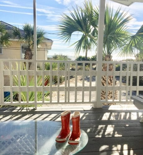 the porch at atlantic 2 cottage, mermaid cottages, tybee island ga